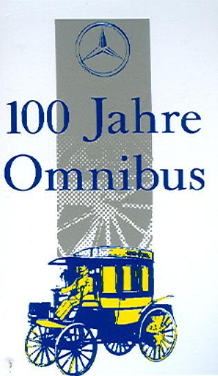 Aufkleber 100 Jahre Omnibus