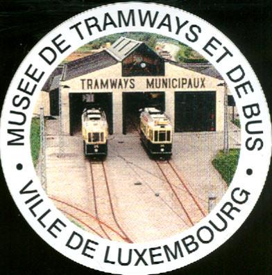 Aufkleber Museee de Tramways et de Bus/Luxembourg