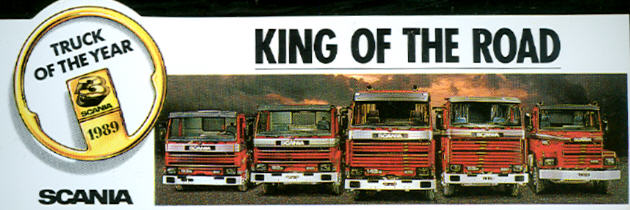 Aufkleber KING OF THE ROAD Scania
