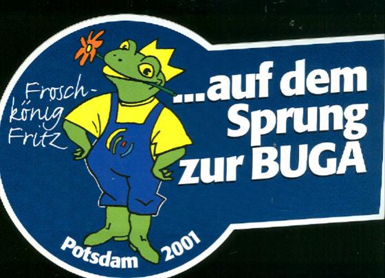 Aufkleber Buga Potsdam 2001