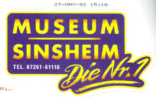 Aufkleber Museum Sinsheim