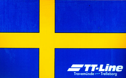 Aufkleber TT-Line Trave-Trelle Schweden