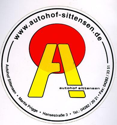 Aufkleber Autohof Sittensen