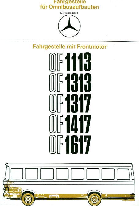 Prospekte MB Fahrgestelle für Omnibusaufbauten
