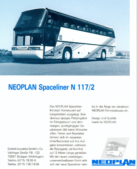 NEOPLAN-Spaceliner N 117/2 -  Datenblatt