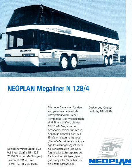 NEOPLAN-Megaliner N 128/4 -  Datenblatt
