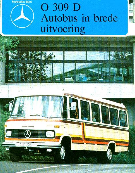 Prospekte Mercedes Benz MB  -  O 309 D - Autobus brede