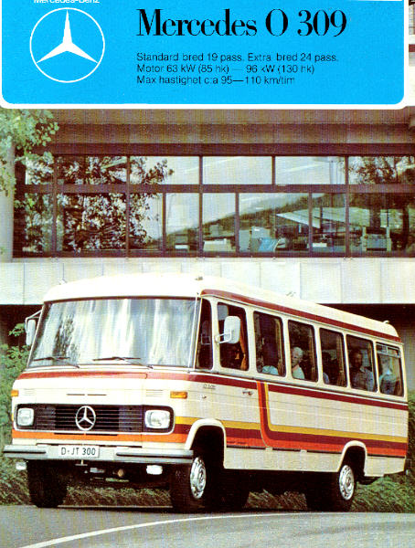 Prospekte Mercedes Benz MB  -  O 309