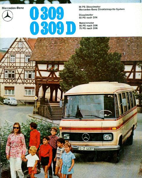 Prospekte Mercedes Benz MB  -  O 309/309D