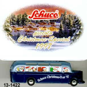 Schuco Mercedes Benz MB  O 3500 Schuco Christmas-Tour '97