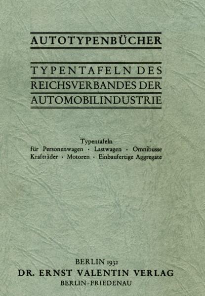 Autotypenbuch 1932