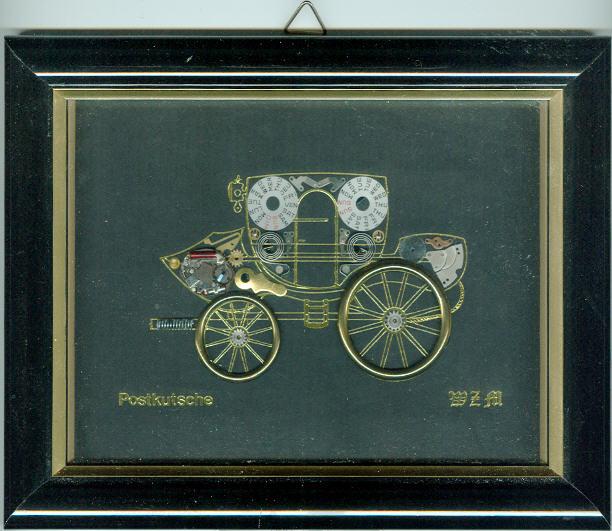 Bild als Postkutsche mit Rahmen