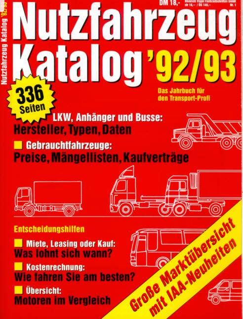 Nutzfahrzeug-Katalog 92/93 LKW,Anhänger,Busse
