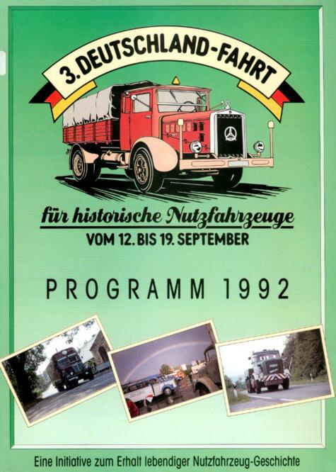 3. Deutschland-Fahrt für historische Nutzfahrzeuge/Sept 1992