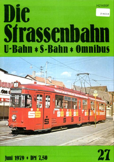 StrassenbahnU-BahnS-Bahn Omnibus -  Nr.27/1979