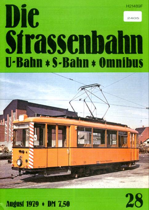 StrassenbahnU-BahnS-Bahn Omnibus -  Nr.28/1979