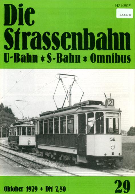 StrassenbahnU-BahnS-Bahn Omnibus -  Nr. 29/1979