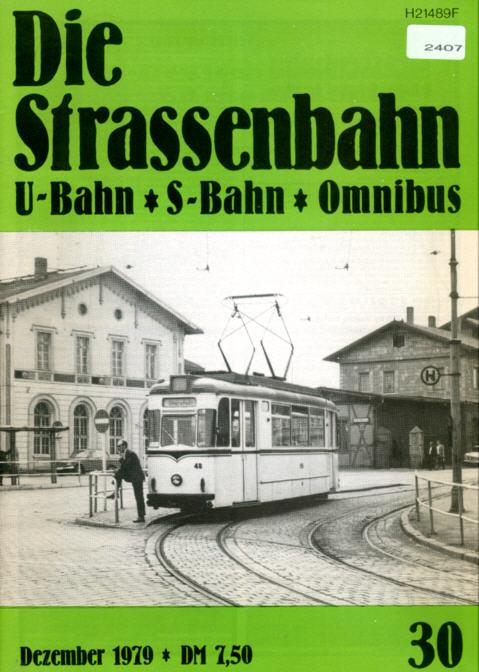 StrassenbahnU-BahnS-Bahn Omnibus -  Nr. 30/1979