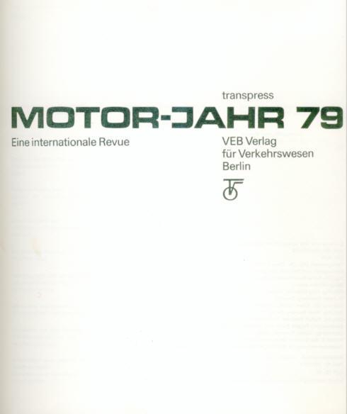 Motor-Jahr 1979 VEB Verlag,Berlin