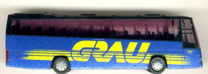 Rietze Volvo B12-600 Euro-Comet Grau-Reisen, Homberg