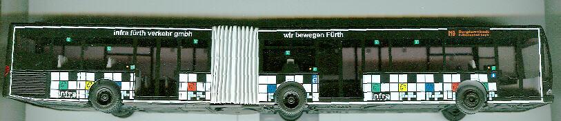 Rietze Mercedes Benz MB O 530 G Citaro-Gelenkb. Infra Fürth