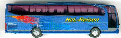 Rietze Mercedes Benz MB  Travego 2-achs. HZL-Reisen,Gemmertingen