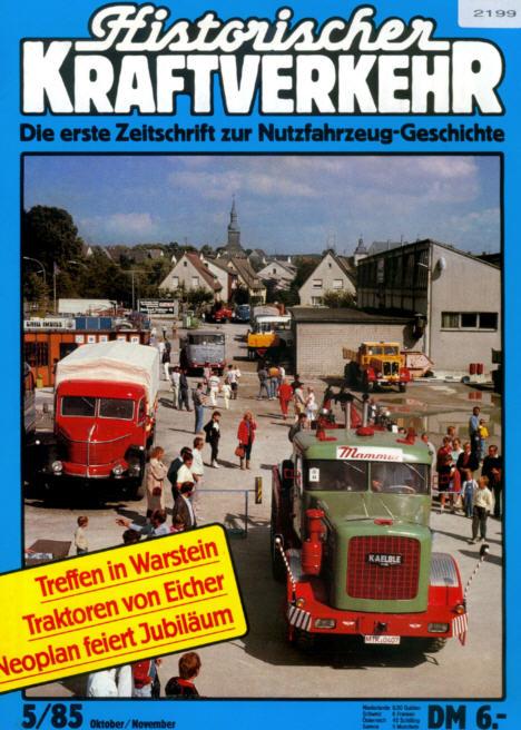 Historischer Kraftverkehr 5/85 Eicher/50 J.Neoplan
