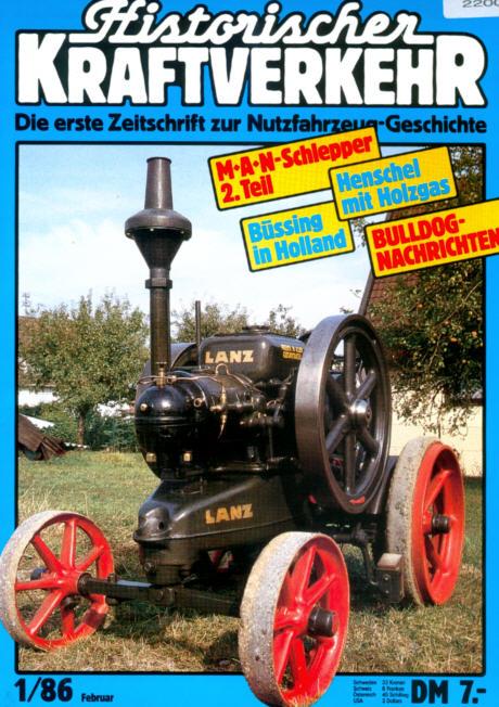 Historischer Kraftverkehr 1/86 MAN/Henschel/Büssing