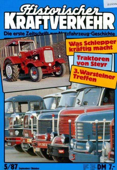 Historischer Kraftverkehr 5/87 Steyr,Warsteiner-Treffen