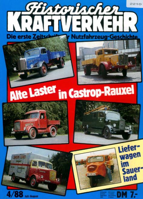 Historischer Kraftverkehr 4/88 Alte Laster in Castrop-R.