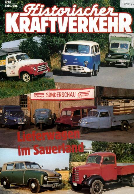 Historischer Kraftverkehr 5/89 Lieferwagen,Magirus,Deutz