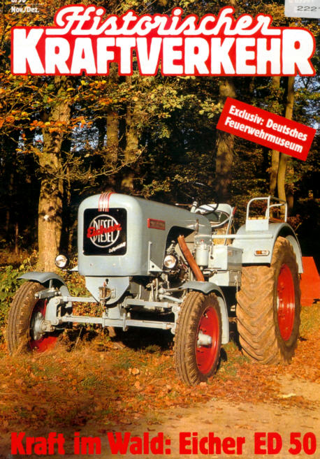 Historischer Kraftverkehr 6/90 Eicher,Feuerwehrmuseum