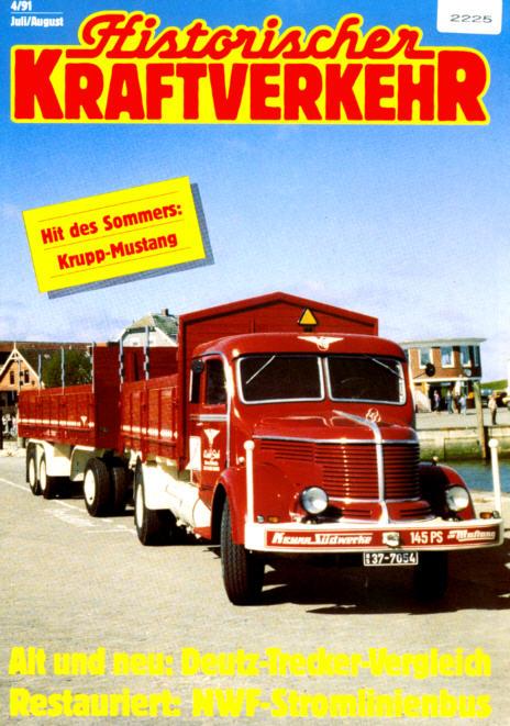 Historischer Kraftverkehr 4/91 NWF-Stromlinienbus
