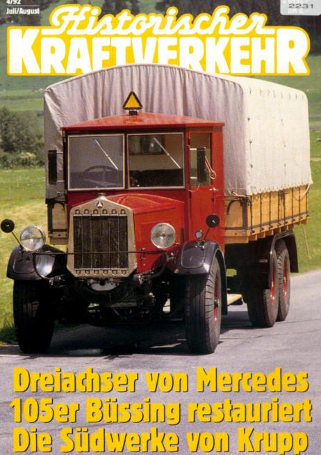 Historischer Kraftverkehr 4/92 Krupp-Südwerke,Ford
