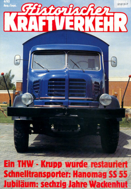 Historischer Kraftverkehr 4/93 Krupp,Hanomag