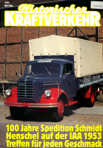 Historischer Kraftverkehr 5/93