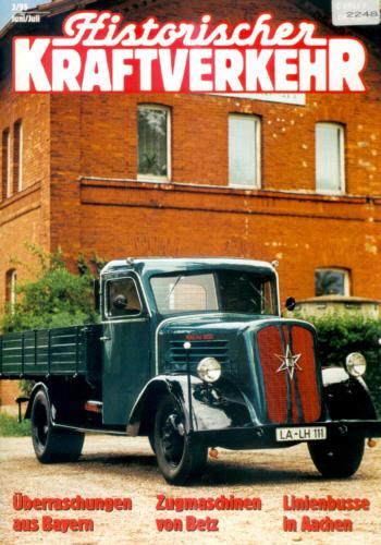 Historischer Kraftverkehr 3/95