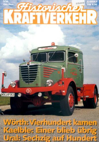 Historischer Kraftverkehr 5/96