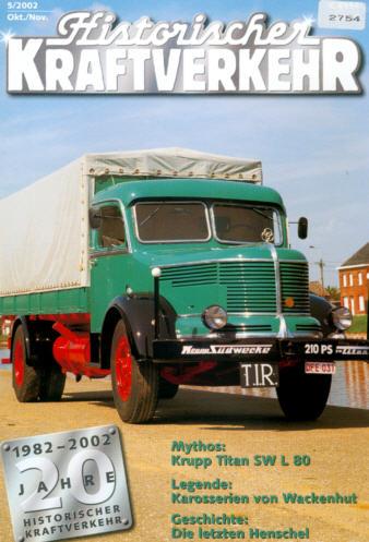 Historischer Kraftverkehr 5/2002