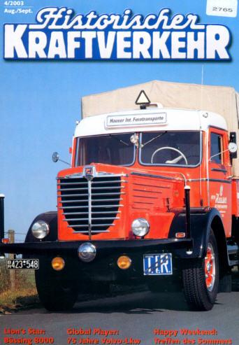 Historischer Kraftverkehr 4/2003