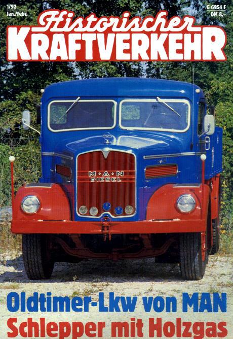 Historischer Kraftverkehr 1/92