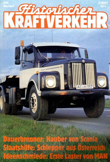 Historischer Kraftverkehr 2/92