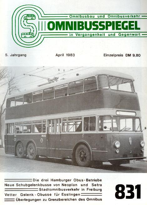 Omnibusspiegel 831-834 = 4 Hefte 1983