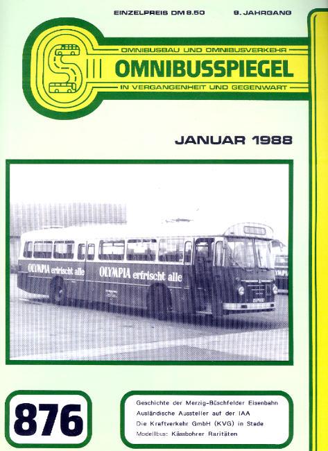 Omnibusspiegel 871,872,873,876 = 4 Hefte 1987