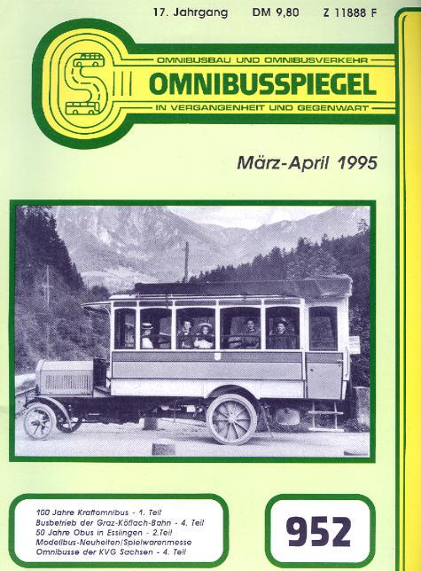 Omnibusspiegel Nr. 952, 954, 956 = 3 Hefte 1995