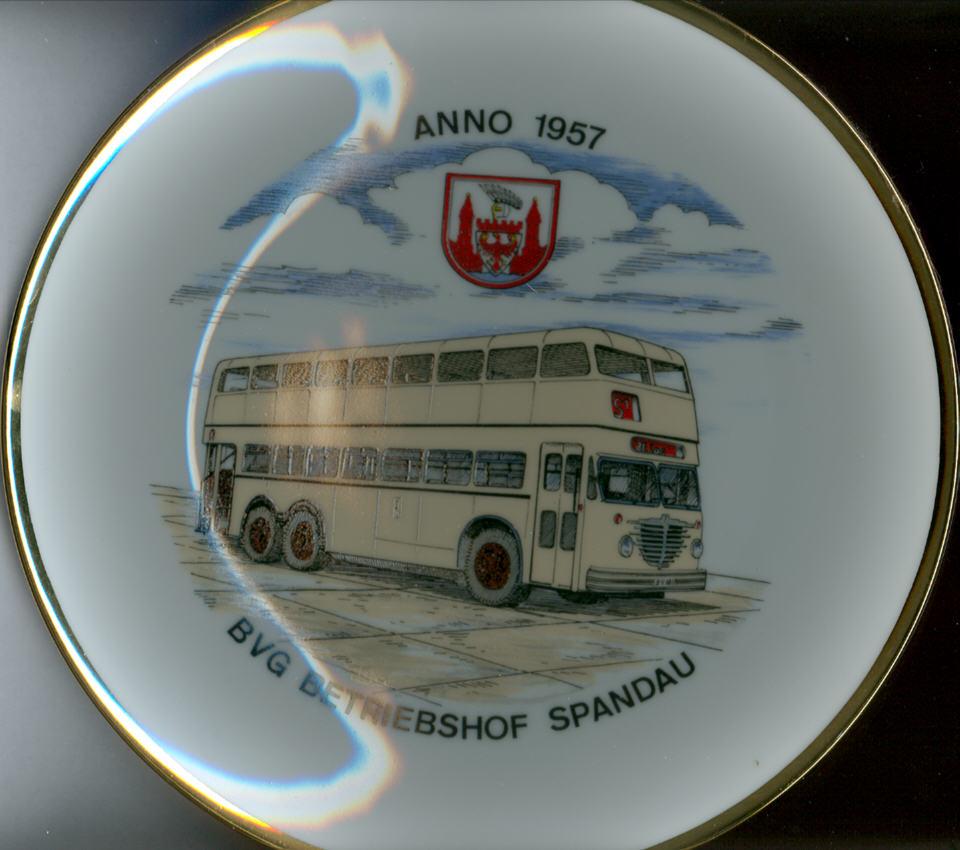 Omnibus-Wandteller BVG,Spandau