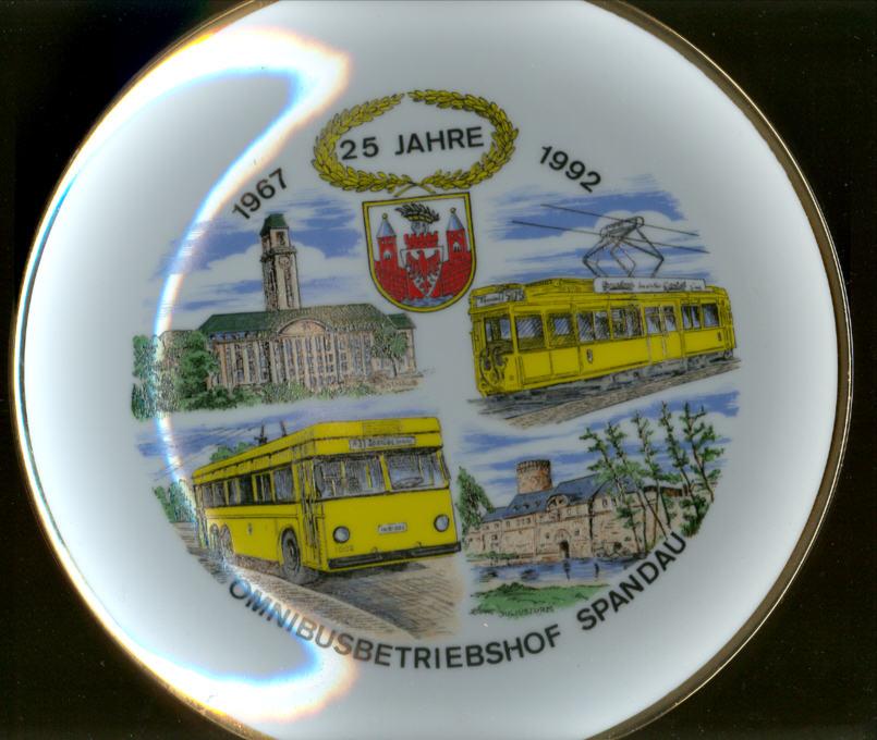 Omnibus-Wandteller 25 J. Spandau