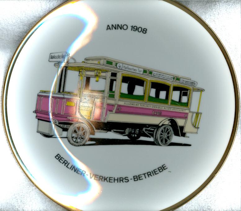 Omnibus-Wandteller BVG 1908