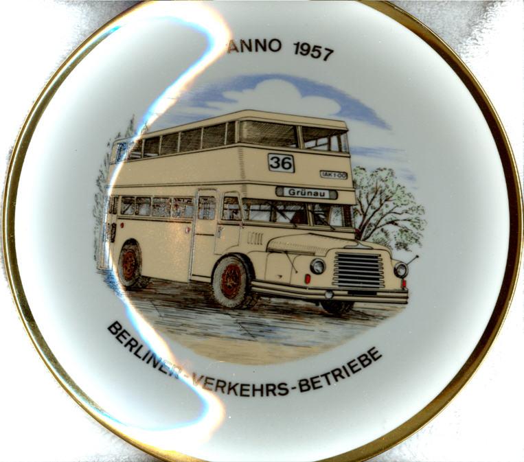 Omnibus-Wandteller BVG 1957