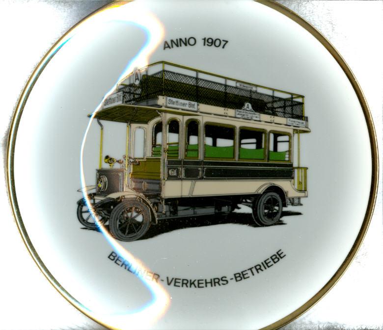 Omnibus-Wandteller BVG 1907